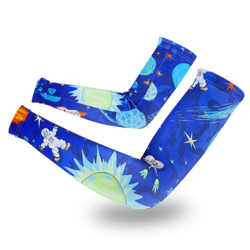 2018 Summer Men Women Arm Warmers Korean Printed Ice Silk Cuff Sunscreen for Vehicle Cycling Warmers Arm Cover Sleeves AGB231