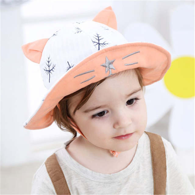 US $9 99 |Summer Children Hat Sunhat Baby Boys Sun Hat Kids Fisherman Hat  Girls Sunscreen Caps Toddler Baby Caps for 0 3 years old wear-in Hats &  Caps