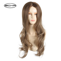 BCHR Sexy Long Body Wave Synthetic Hair   Wig   Women Natural Linen Ladies Female Party   Cosplay     Wigs   Peruca Peruke