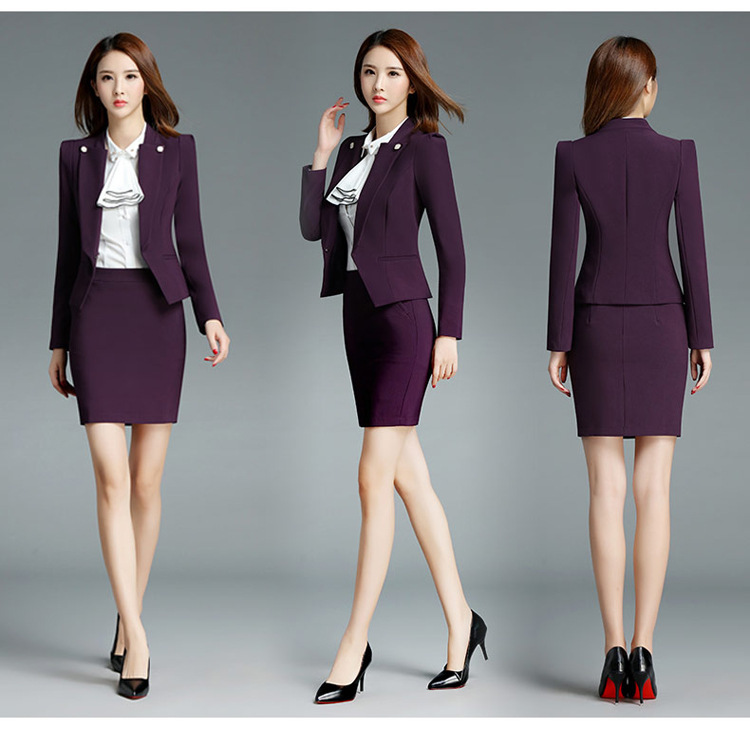 Pyjtrl Brand Two Piece Set Pink Office Uniform Designs Women Elegant