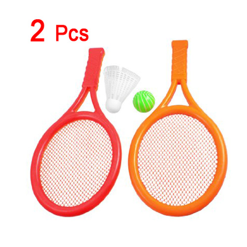 SEWS Red Children Kids Play Game Plastic Tennis Badminton Racket Sports Toy Set Gift