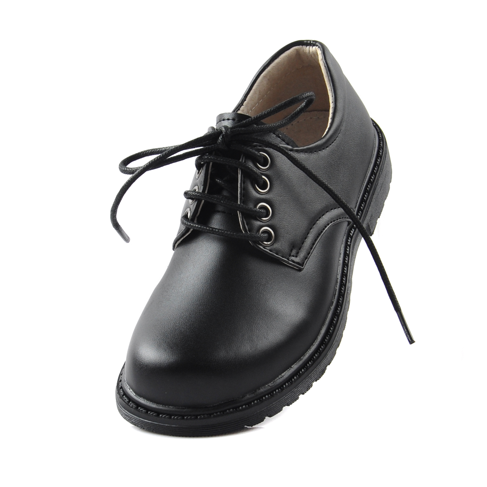 high quality lace up black boys school shoes soft leather comfortable sole  kids shoes for boys b6d632a5b3e4