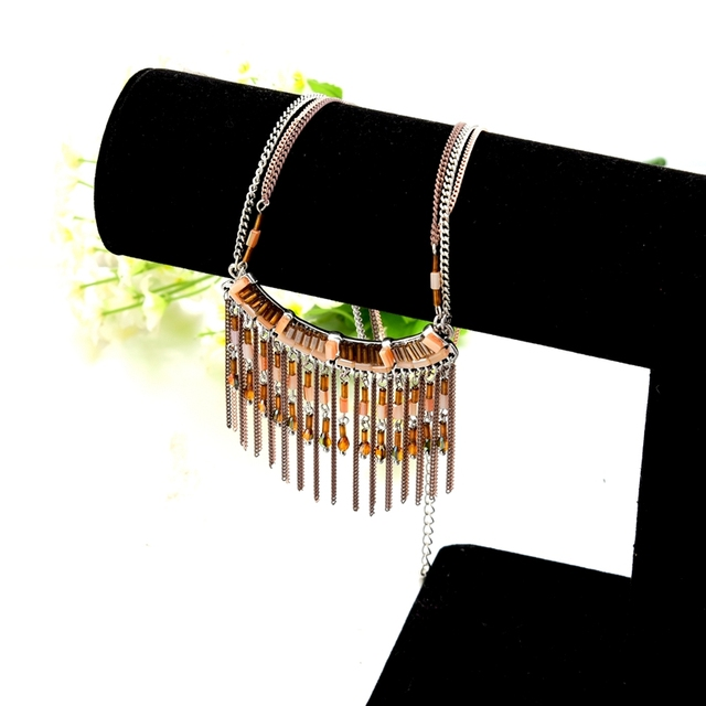 chicvie милые ожерелья из натурального камня популярные золотые фотография