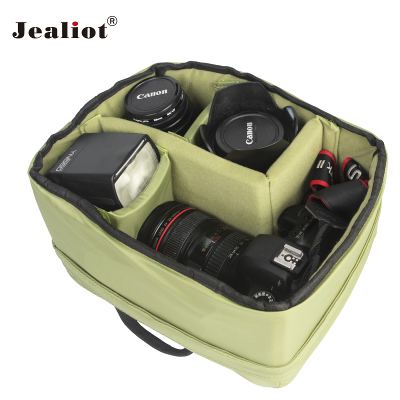 2018 Jealiot Waterproof SLR Protector Camera Lens Bag Case lens Storage bags Pouch for DSLR Nikon Canon Sony Lenses green