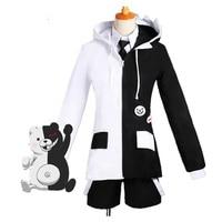 Danganronpa Monokuma Bear Black and White Cosplay Costume For Woman Man Full Set