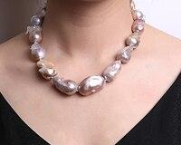Барокко жемчужное ожерелье пресноводные культивированные вечерние свадебные украшения для женщин подарок AAA Lanvender