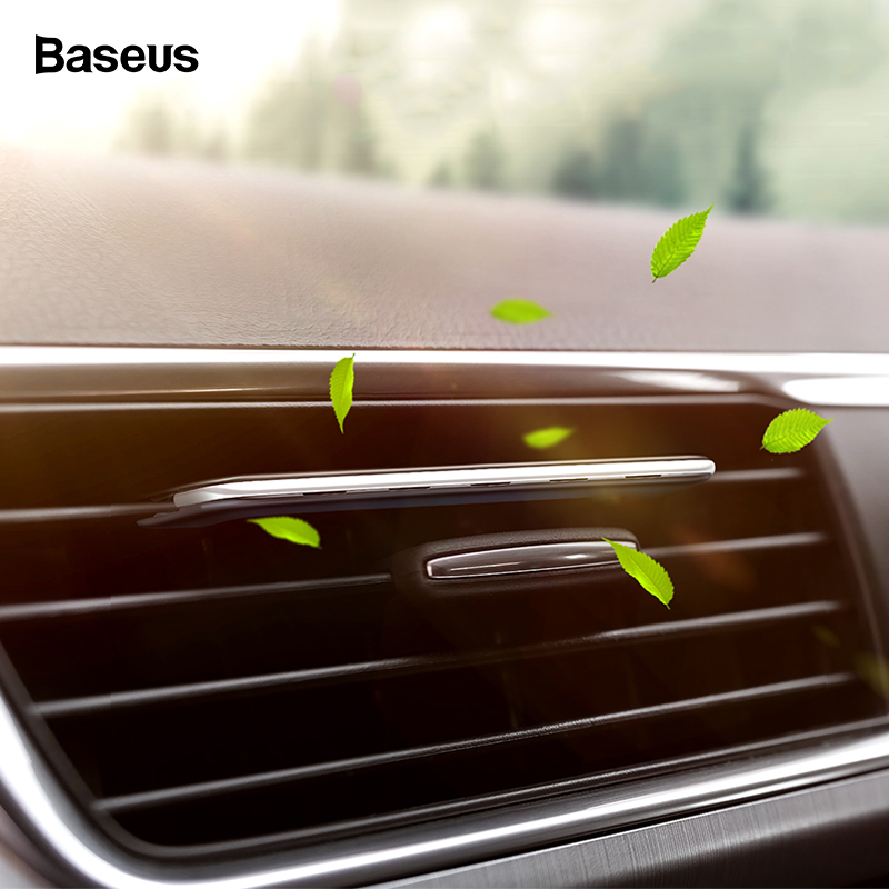 Baseus Aromatherapy Clip Paddle Car Phone Holder For Car Air Vent Air Freshener Diffuser Air Purifier Solid Perfume Freshener