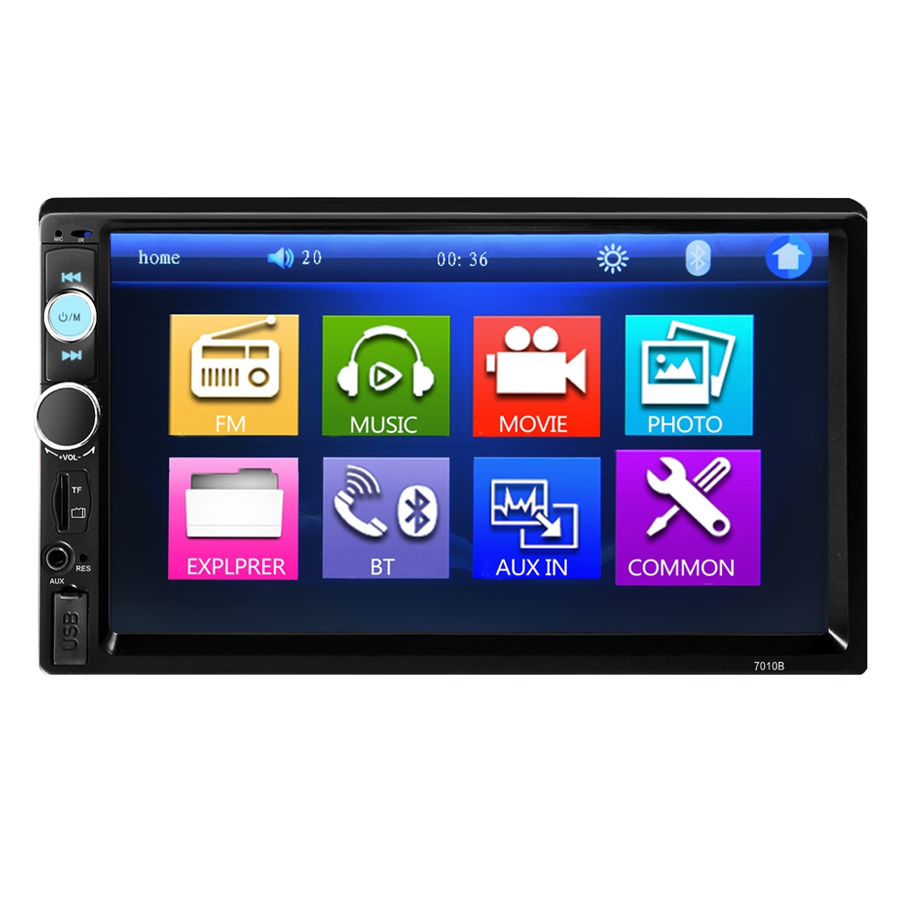 7 inch Bluetooth V2.0 Car Audio Stereo Touch Screen MP5 Player Support SD USB FM Radio