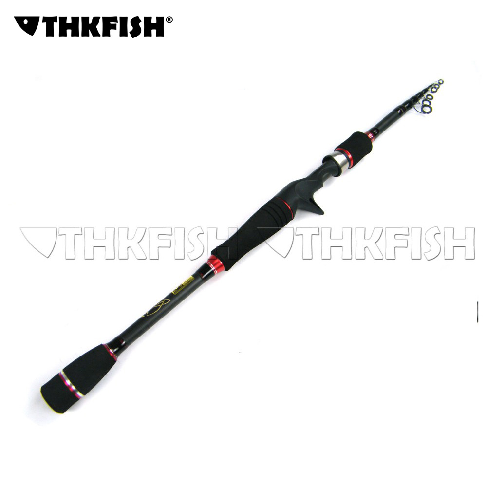 6.4ft/6.9ft 1.95m/2.1m THKFISH Casting Cast Rod pole Collapsible Telescopic Bait Casting Fishing Lure Rod Pole Tackle Tool