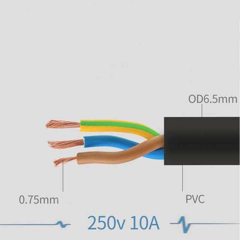 5 pz display stampanti proiettori mainframe bollitori per riso bollitore elettrico di alimentazione del computer fili dd lacci a tre fori spine