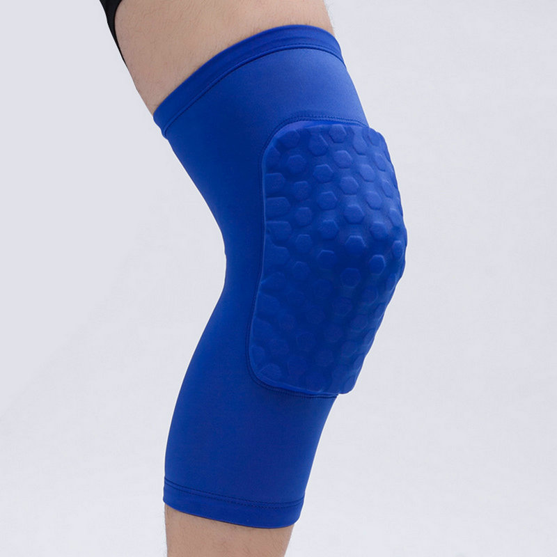 1 Pair Varicose Veins Pain Prevent Compression Knee Pads Protector Honeycomb Basketball Cycling Knee Sleeves Brace Support in Elbow Knee Pads from Sports Entertainment