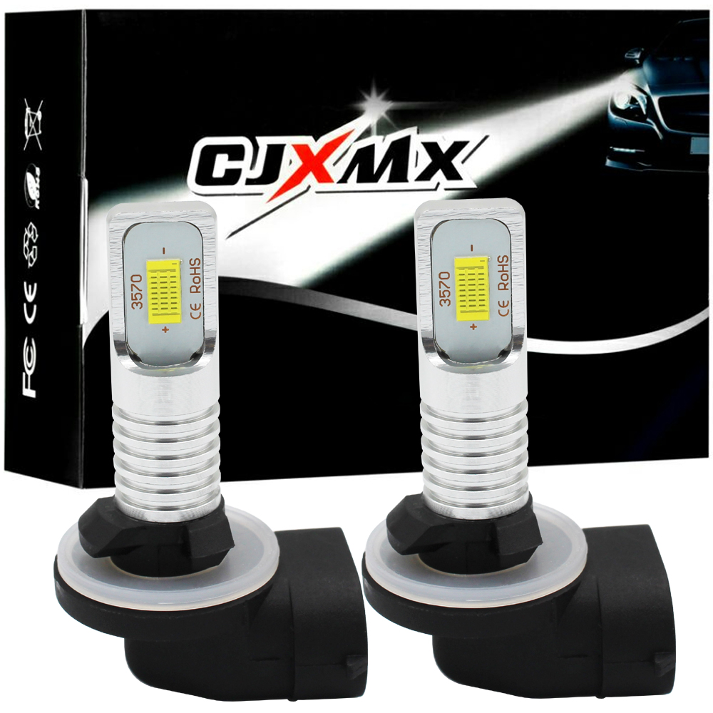 CJXMX 2Pcs H27 880 881 LED Bulb 1600LM 6500K CSP 3570 High Power Chip Extremely Bright Car Fog Lights 12V 24V Auto Led Fog Lamps