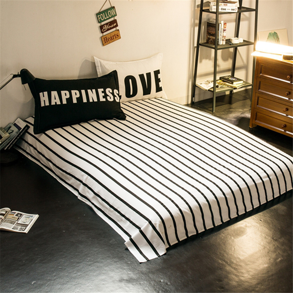 Modern quilt bedding - Aliexpress Com Buy Modern Design Super Cool Bedding Sets Kids Adult Boys White And Black Plaids Stripes Quilt Cover Bed Sheet Pillowcase Queen Full From