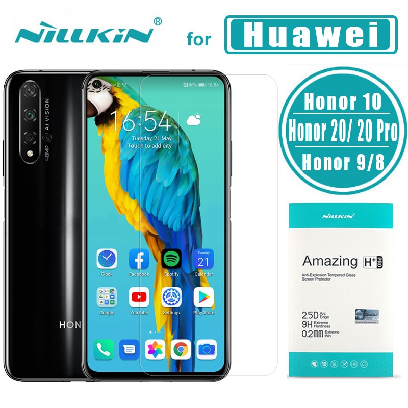 <font><b>Nillkin</b></font> for Huawei <font><b>Honor</b></font> 20 20 Pro 10 <font><b>9</b></font> 8 Glass H+PRO 2.5D Tempered Glass Screen Protector for Huawei <font><b>Honor</b></font> 20 10 <font><b>Lite</b></font> <font><b>9</b></font> 8 Glass image