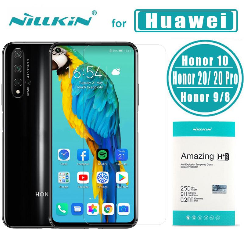 Nillkin para Huawei Honor 20 20 Pro 10 9 8 H + PRO 2.5D Vidro Temperado Protetor de Tela de Vidro para huawei Honra 20 10 Lite 9 8 Vidro