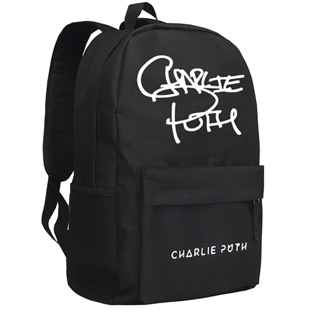 Zshop Nine Track Charlie Puth Backpack for Fans Famous Singer Daypack туфли nine west nwomaja 2015 1590