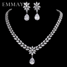 EMMAYA Romantic Trendy Set Jewelry Flower Design Water Drop