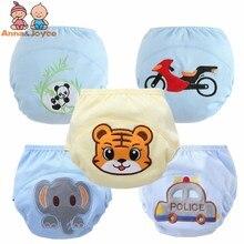 5 шт./лот, тренировочные штаны для маленьких мальчиков, детские штаны для учебы, многоразовые подгузники, моющиеся подгузники, размер 100, 12-16 кг
