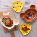 Baby Fashion ceramic tableware Baby Infant Feeding Plate Kid Fruit Dishes Animals cartoon Children