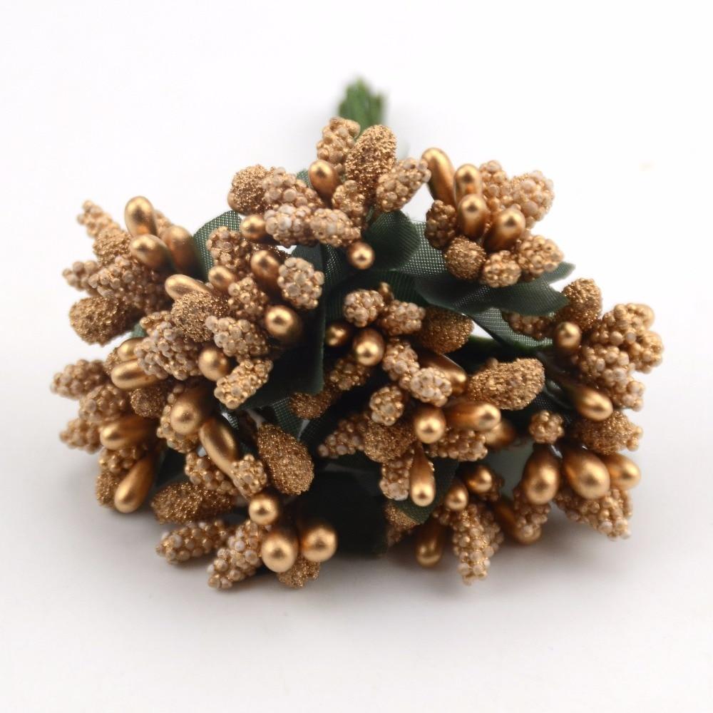 12 шт. мини бутон тычинки семья сад ручной работы Искусственный Букет Свадьба merry Рождество украшения DIY поделки из жемчуга поддельные цветок