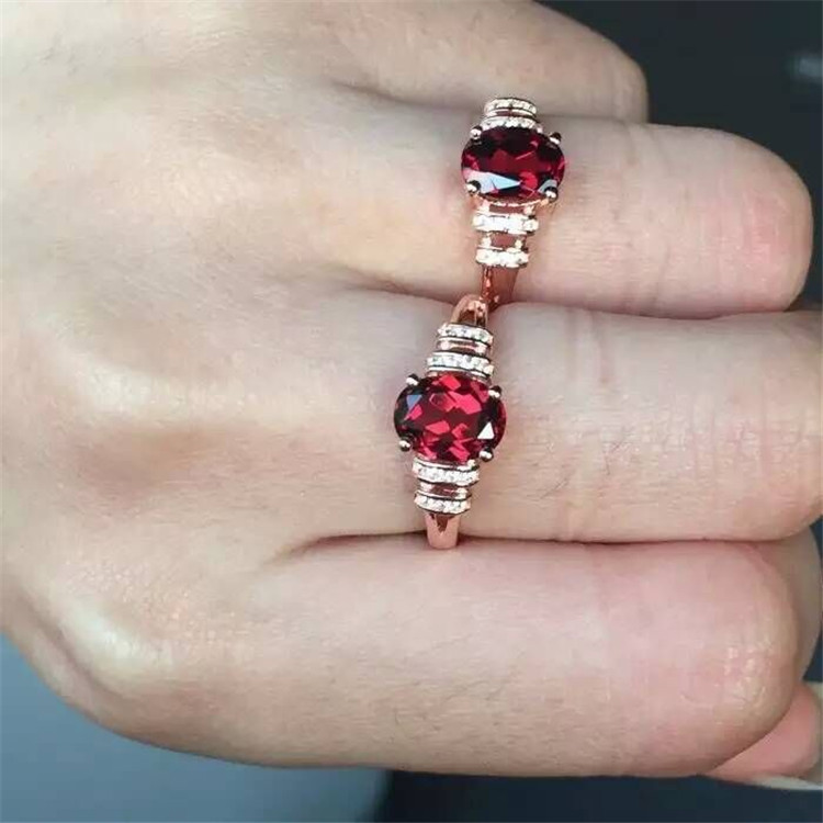 Black silver jewelry wholesale 925 Sterling Silver Garnet with Marcasite orchid ladies new j ring