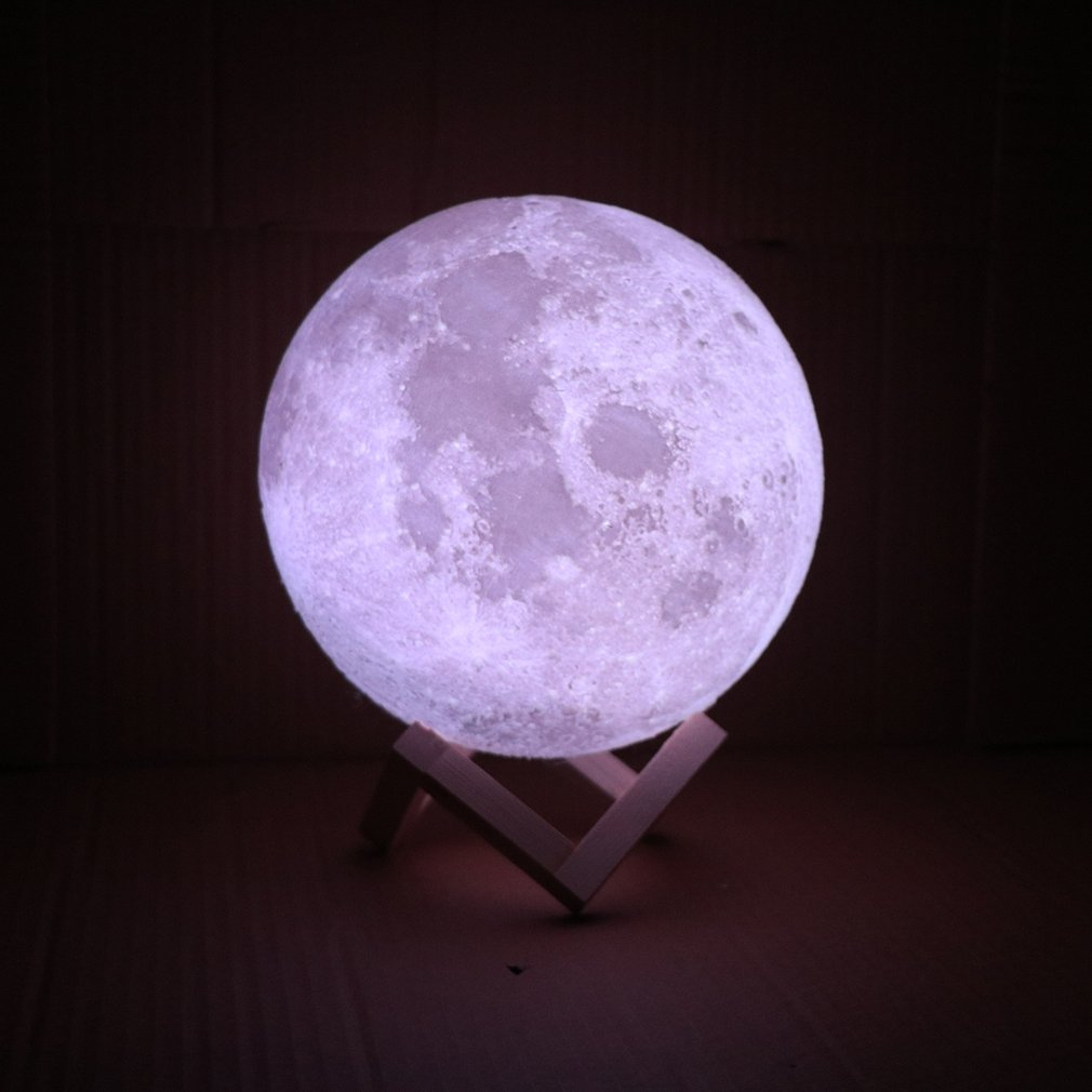 3D светильник с принтом «Юпитер», лампа для земли, Рождественское украшение, двухцветная Лунная лампа, перезаряжаемая сменная сенсорная Светодиодная лампа Usb, ночной Светильник