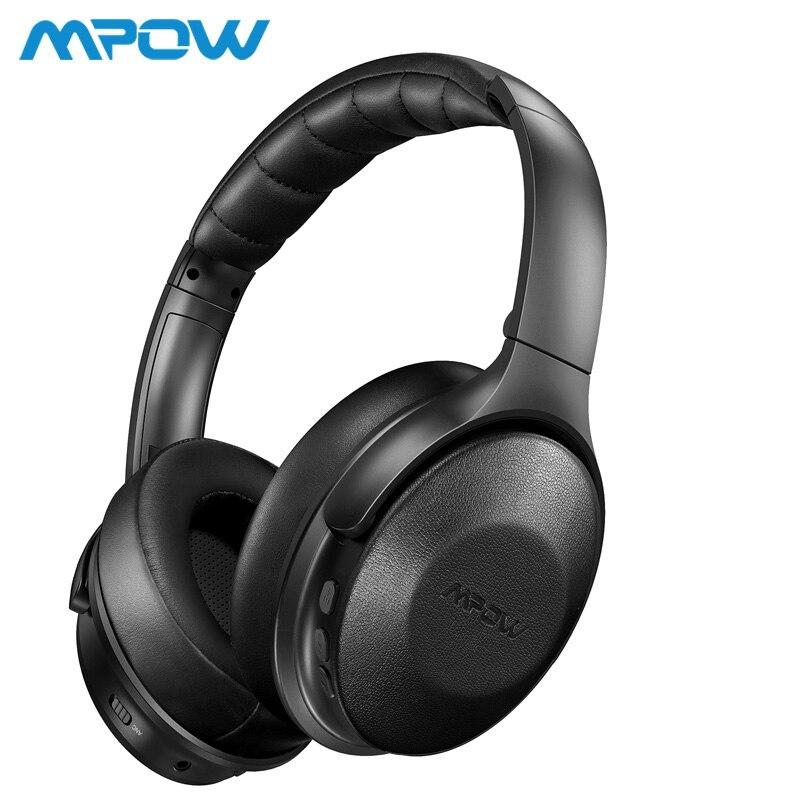 Mpow H17 casque anti-bruit actif 30H temps de jeu casque ANC sans fil 10min Charge 2 heures lecture Hi-Fi stéréo oreillettes souples