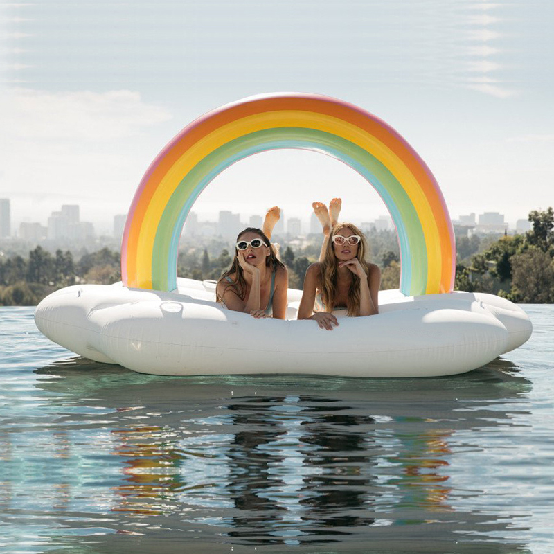 Cloud shape inflatable floating row water raft rainbow Inflatable pool float Y intex pacific paradise lounge marine intex 58286 chaise lounge water floating row floating bed water