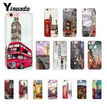 Yinuoda style london bus england telephone vintage british TPU Phone Case for iPhone X XS MAX 6 6S 7 7plus 8 8Plus 5 5S XR 10(China)