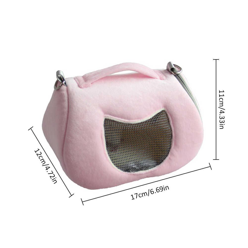 Милая домашняя крыса переноска для хомяков сумка Leopard плюшевый зверек Сумка-переноска комфортная Путешествия Открытый ПЭТ висит кровать Воздухопроницаемый рюкзак