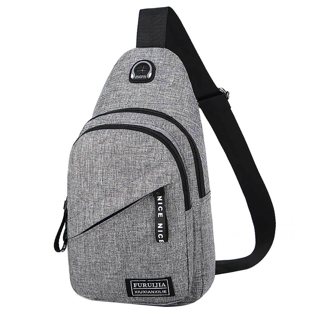 Waist Bag Men Oxford Cloth Badge Chest Bag Wild Small Bag Fashion Pockets Travel Portable Bags  Pp