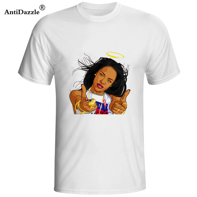 05306bcfc076 Antidazzle AAliyah T Shirt Guy New Coming Tee Shirt Home Wear Classic T- Shirt Man Summer Graphic Tees Father s Day gift