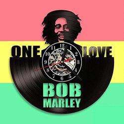 Bob Marley 3D zegar ścienny nowoczesny Design dla pokoju gościnnego klasyczny w stylu Vintage płyta winylowa zegar ścienny zegarek sztuki dekoracji wnętrz 12 cal