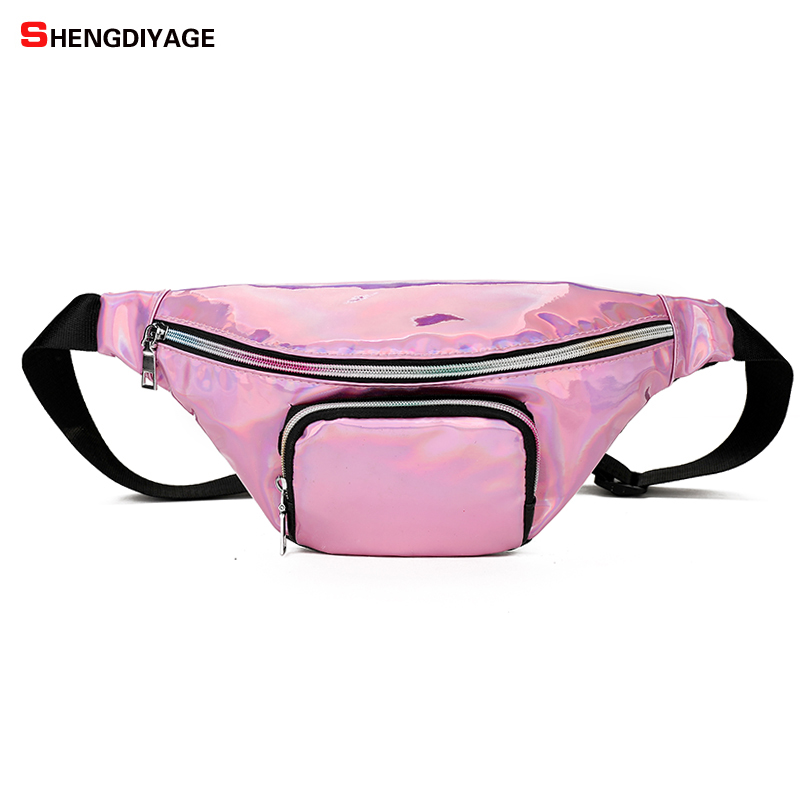 Fanny Pack Transparent Belt Bag Clear Pvc Plastic Nets Waist Bag Women 2018 Summer Candy Color Pink Black Silver Red Wholesale