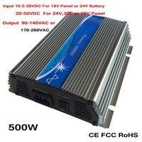 Barato Inversor de conexión de rejilla de 500 W función MPPT 10 5 30VDC 20 50vdc entrada