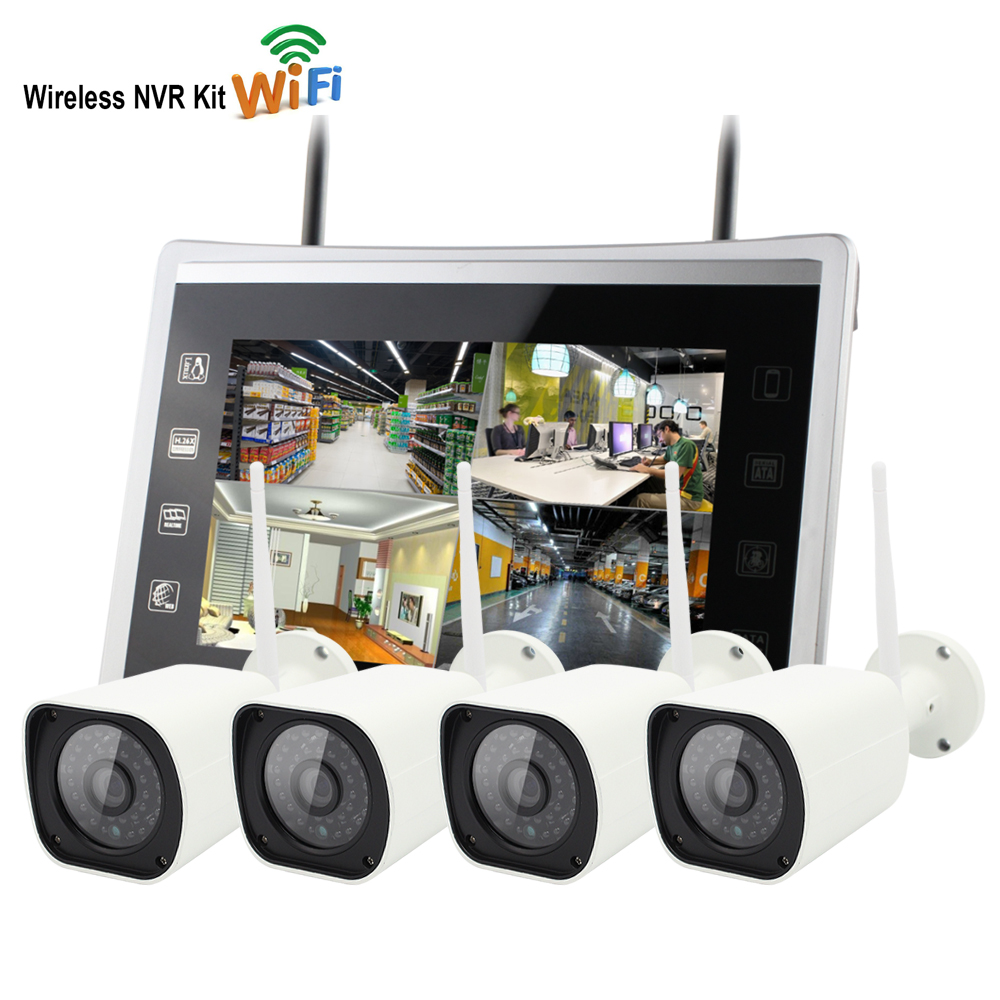 Yobang Security 4CH 960P Wireless Waterproof CCTV Camera System 1.3MP WIFI Home Security System Video Surveillance Camera Kit