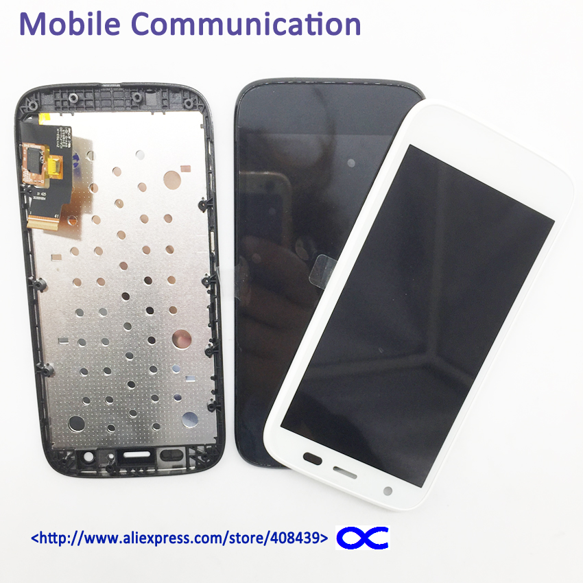 New LCD display for Motorola Moto G XT1032 XT1033 LCD Touch Screen Digitizer Replacement With Middle frame new original lcd replacements for motorola moto g xt1032 xt1033 lcd display touch digitizer screen with frame assembly tools