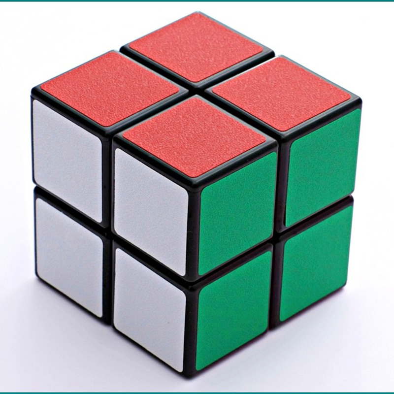 Own Factory 2x2x2 Magic Cube Puzzle Black White Basic PVC Stickers Rubiks Cube Puzzle For Beginner Toys For Children MF220