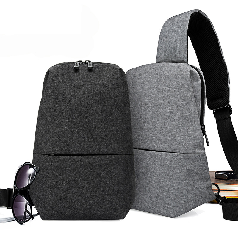 New Casual Men Chest Bag Canvas Sling Multifunctional Male Backpack Small Pack Korean Style