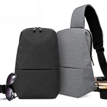 New Casual Men Chest Bag Canvas Sling Bag Multifunctional Male Sling Backpack Small Sling Pack Chest Pack Korean Style цены