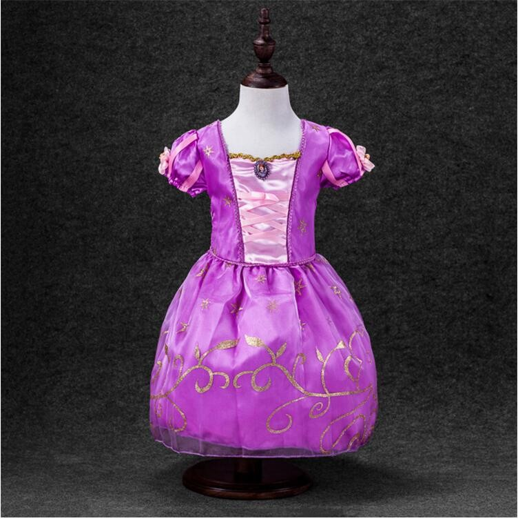 CNJiaYun Girls Dress Cartoon Cosplay Snow Queen Princess Dresses ...