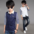 Boys Blouses Long Sleeve Striped Shirts For Boys Children Clothing Cotton School Uniforms Teenage Boys Tops 5 7 9 11 13 14 Years