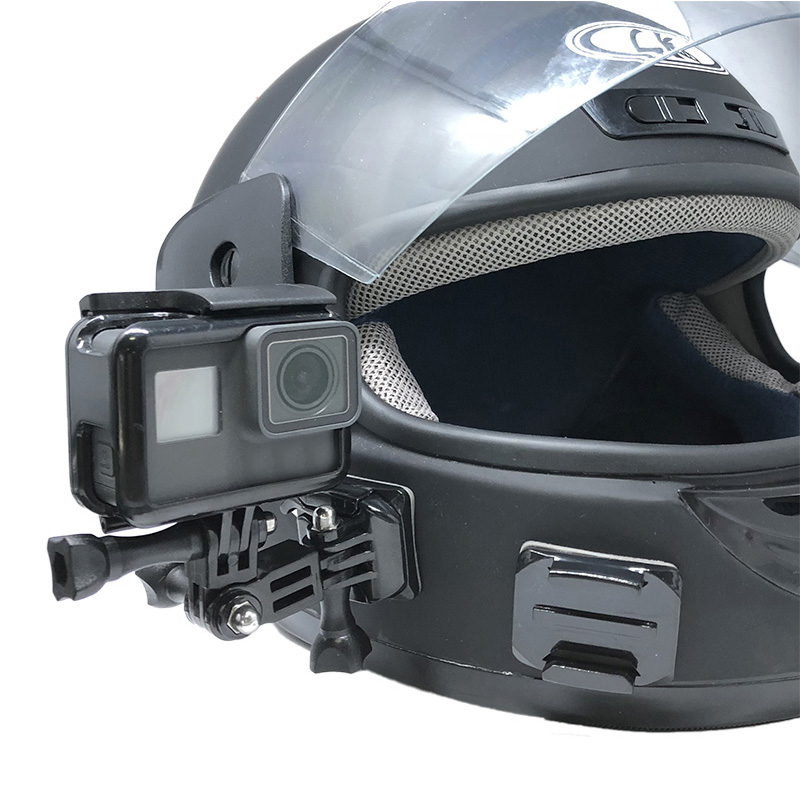 8Pcs casco de montaje plana Adhesivo Curvo Accesorios para pro Hero 5 4 3 Go cahfbe