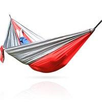 Wear-resistente Parachute Hammock 1 Pessoa Portátil Redes Balanço Mobiliário de Jardim Ao Ar Livre de Viagem de Acampamento Sobrevivência