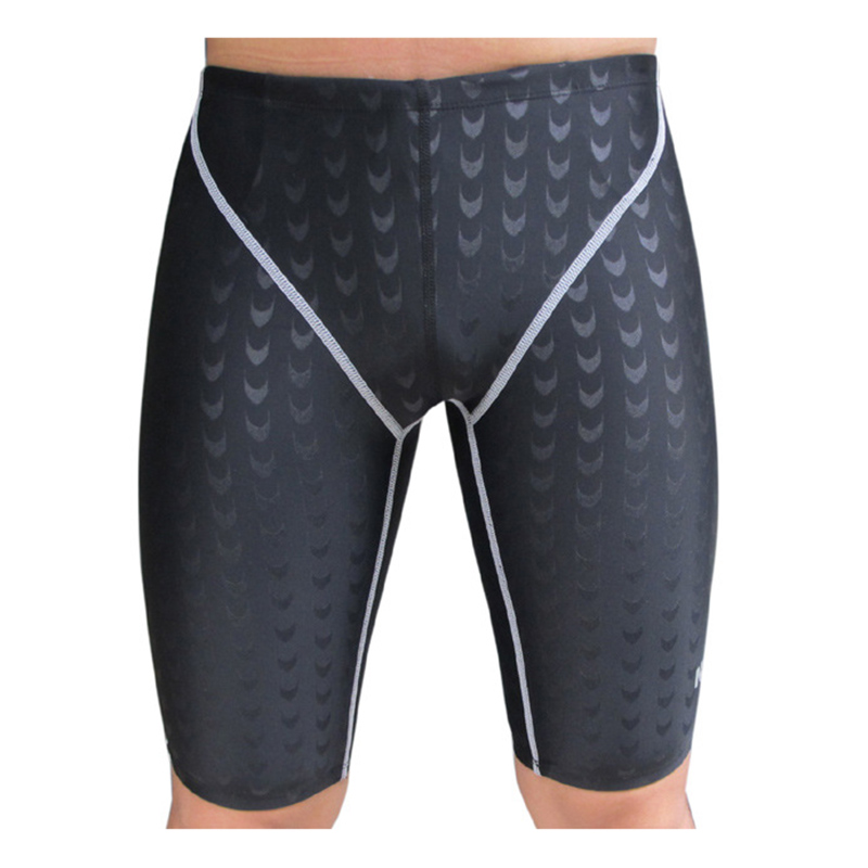 SBART Professional Quality Men Competitive Swimwear Shark Skin Swimwear Solid Dispenser Swimsuit Fifth Pant plus