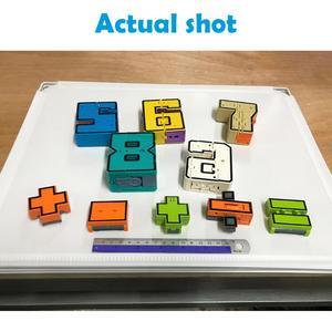 Image 5 - 10 pçs número de transformação robô brinquedo blocos de construção deformação bolso morphers educacional figura ação brinquedo para crianças