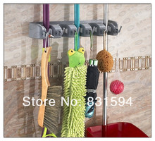 Wall Mounted Mop Brush Broom Organizer Holder Hanger Storage Rack Kitchen Tool
