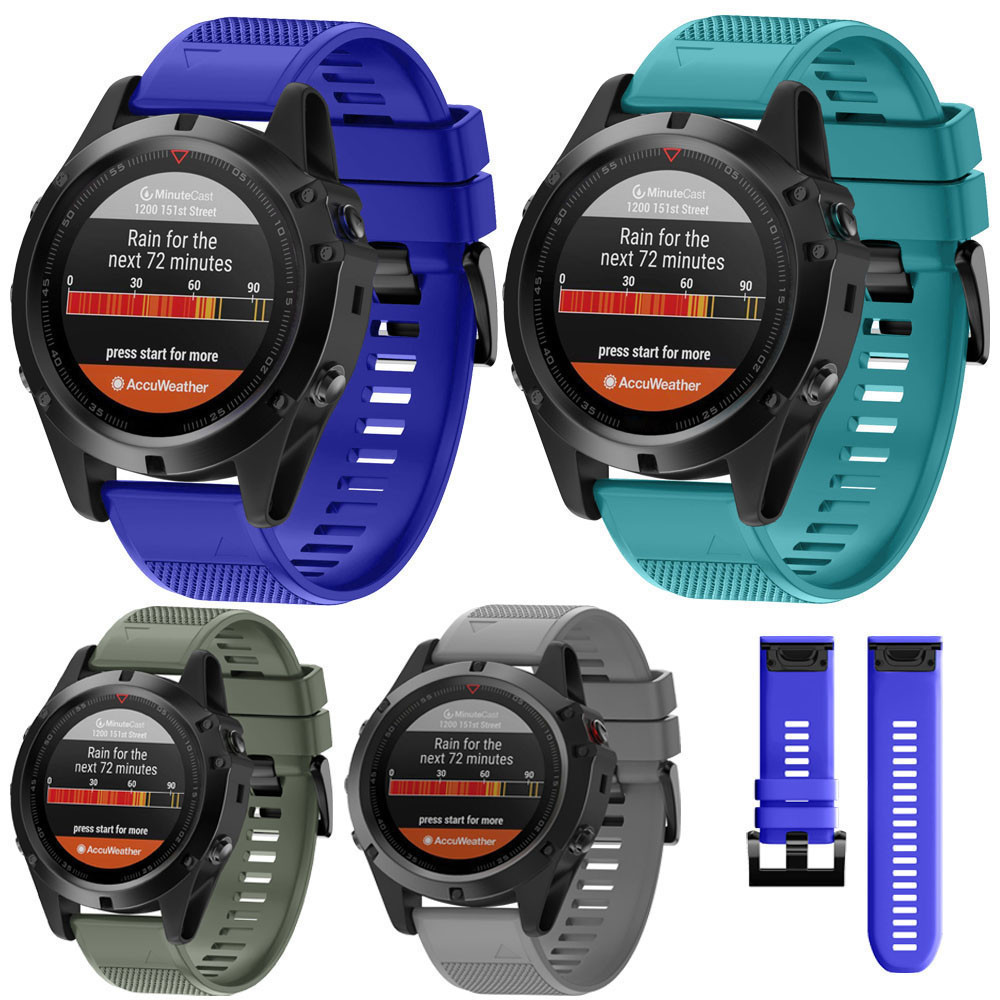 Hot Fashion 26mm Replacement Silicagel Soft Quick Release Kit Band Strap For Garmin Fenix 5X GPS Watch High Quality Watchbands new replacement soft silicone strap sports watchbands wristband for garmin fenix 3 watch accessories