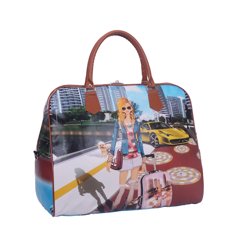 2018 Hot Sale Famous Brands Women s Cartoon Bag Women Luggage Travel Bags  Large Bag For Women Spain Bolsos ZL99-in Travel Bags from Luggage   Bags on  ... 4d905957201e1
