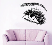 Beauty Salon Girl Art Eye Wall Stickers Home Modern Fashion Decor Vinyl Sexy Murals Decal Woman Pattern W-561